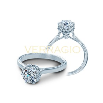 Verragio Renaissance V-939 - 14k White Gold Diamond Engagement Ring by Verragio