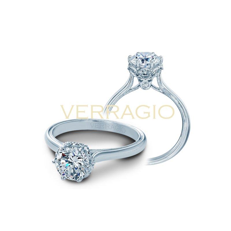 Verragio Verragio Renaissance V-939 - 14k White Gold Diamond Engagement Ring by Verragio