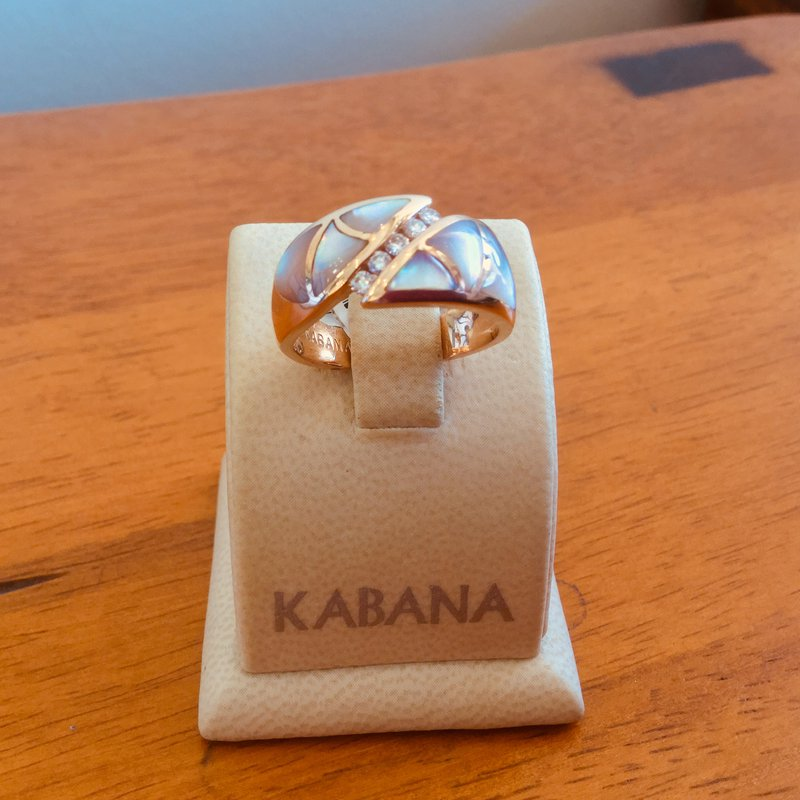 Kabana Jewelry Pink Mother of Pearl Ring