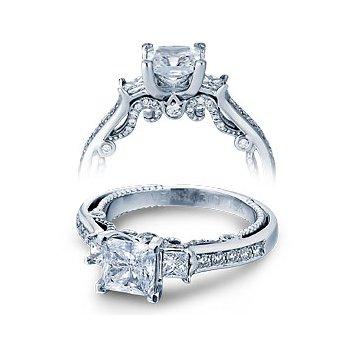Verragio Insignia 7067P - Verragio Engagement Ring in 14k White Gold -  A Classic 3-Stone Design with Verragio's unique flair