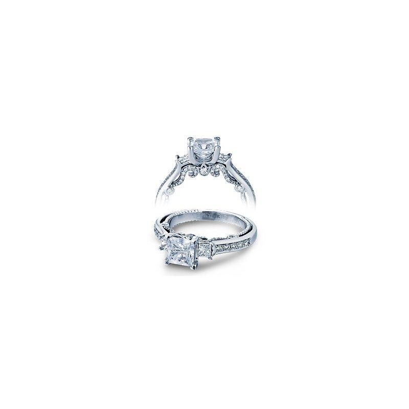 Verragio Verragio Insignia 7067P - Verragio Engagement Ring in 14k White Gold -  A Classic 3-Stone Design with Verragio's unique flair