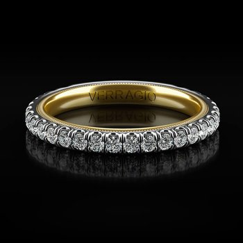 Tradition Collection Wedding Band - Style #TR180-2WY in 14k White and Yellow Gold
