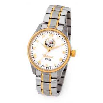 Classique Gents Open Heart Swiss Made Automatic 2Tone Stainless Steel Watch