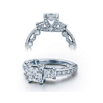 Verragio Paradiso 3007P - Verragio Diamond Engagement Ring - A beautiful 3-stone Cathedral Design in 18k White Gold
