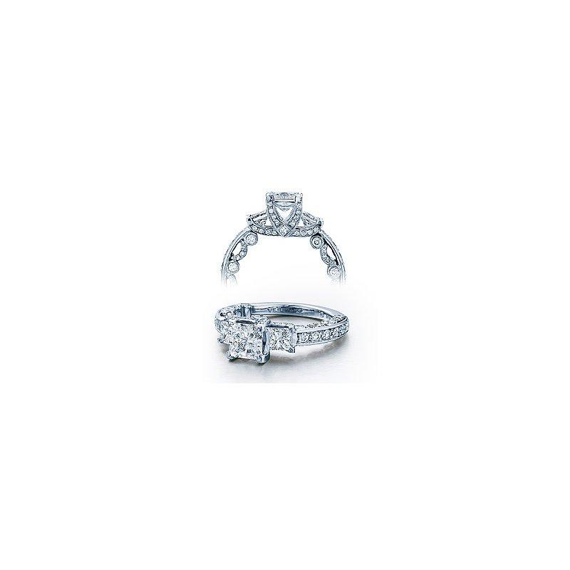 Verragio Verragio Paradiso 3007P - Verragio Diamond Engagement Ring - A beautiful 3-stone Cathedral Design in 18k White Gold