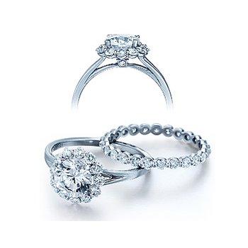 Verragio Classico 0356 - 18k White Gold Diamond Engagement Ring by Verragio