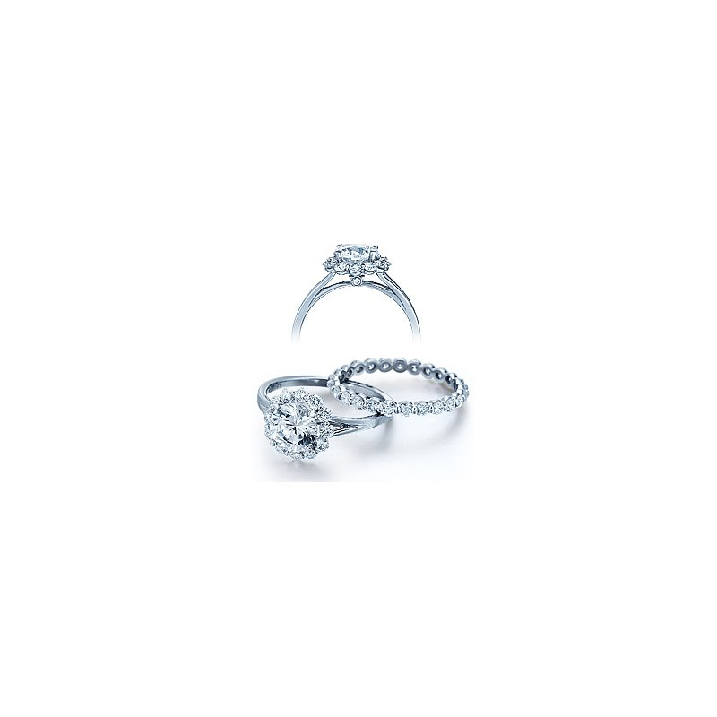 Verragio Verragio Classico 0356 - 18k White Gold Diamond Engagement Ring by Verragio