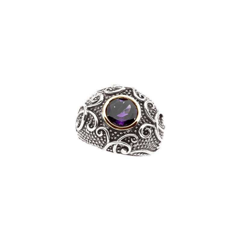 Signature Collection Genuine Amethyst Ring