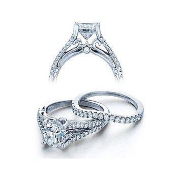 Verragio Couture 0383 - 18k White Gold Diamond Engagement Ring by Verragio