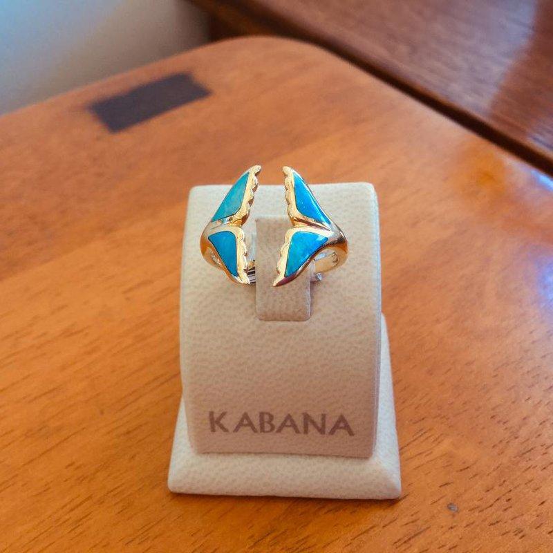 Kabana Jewelry Kabana 14k Yellow Gold Australian Opal Whale's Tail Ring - #34647