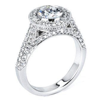 1 ct Center Vintage Style Diamond Engagement Ring - 34219