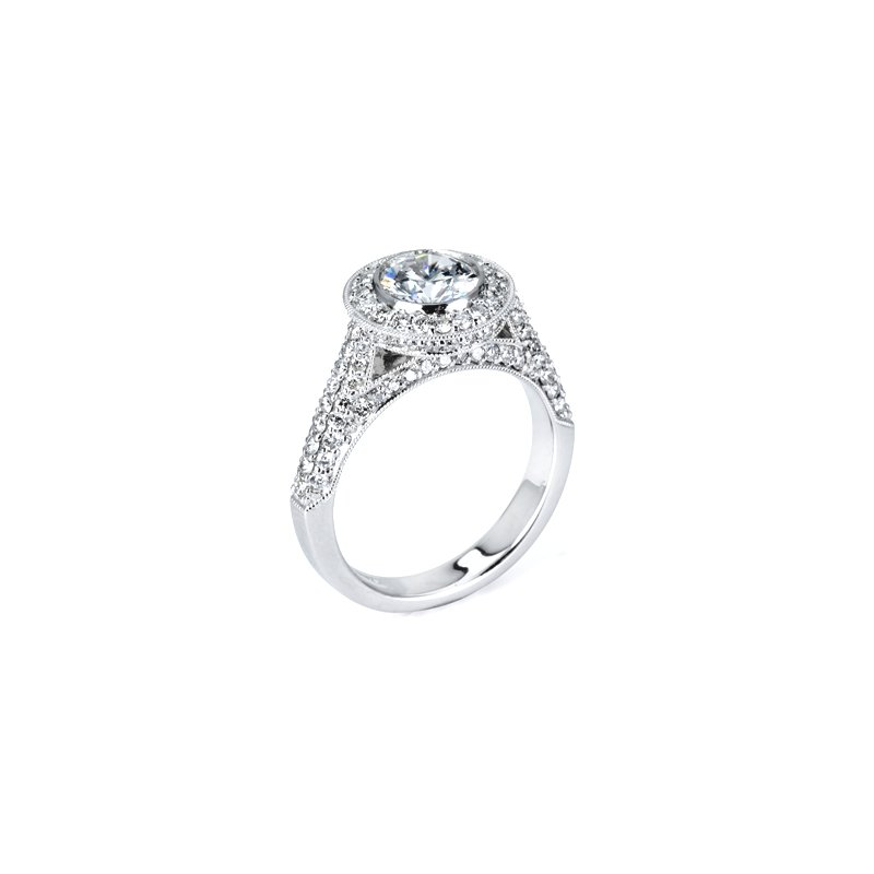 Signature Collection 1 ct Center Vintage Style Diamond Engagement Ring - 34219