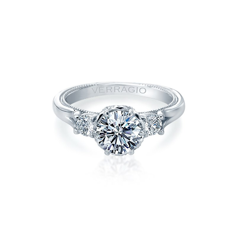 Verragio Verragio Renaissance 949-R7 14k White Gold 3-Stone Engagement Ring