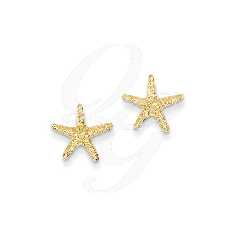 Sealife Jewelry Quality Collection Sealife 14k Yellow Gold Starfish Earrings