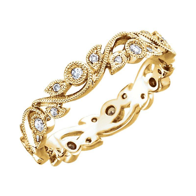 Signature Collection 14k Yellow Gold Diamond Anniversary Eternity Ring - #41390