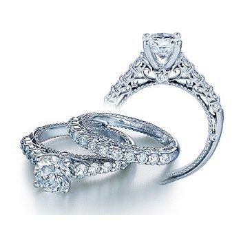 Verragio Venetian 5010R - 18k White Gold Diamond Engagement Ring by Verragio