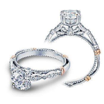Verragio Parisian D-100 - 14k White and Rose Gold Diamond Engagement Ring by Verragio