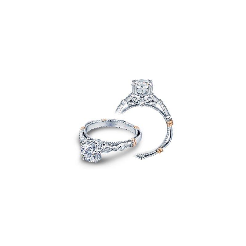 Verragio Verragio Parisian D-100 - 14k White and Rose Gold Diamond Engagement Ring by Verragio