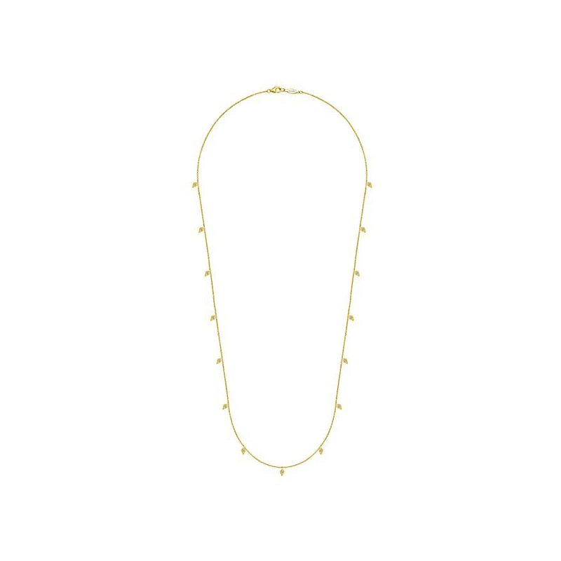 Signature Collection 14k Yellow Gold Diamond Station Necklace by Gabriel NY - Style #NK5786-24Y
