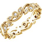 Signature Collection 14k Rose Gold Diamond Eternity Anniversary Ring - #42291