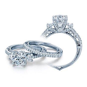 Verragio Venetian 5023R - 18k White Gold Diamond Engagement Ring by Verragio