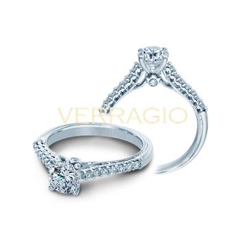 Verragio Classic 901 R6 - 14k White Gold Diamond Engagement Ring by Verragio