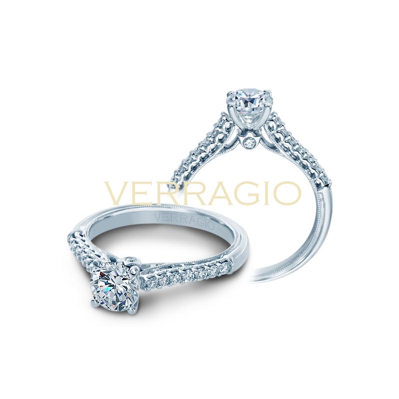 Verragio Verragio Classic 901 R6 - 14k White Gold Diamond Engagement Ring by Verragio
