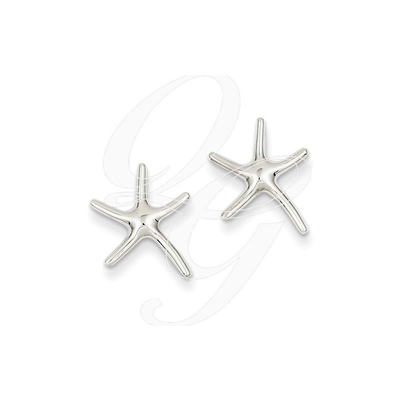 Sealife Jewelry Quality Collection Sealife 14k White Gold Dancing Starfish Earrings