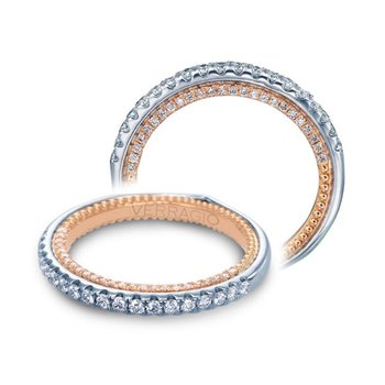Verragio Couture 0459 DW-2WR - 18k White and Rose Gold Diamond Wedding Band