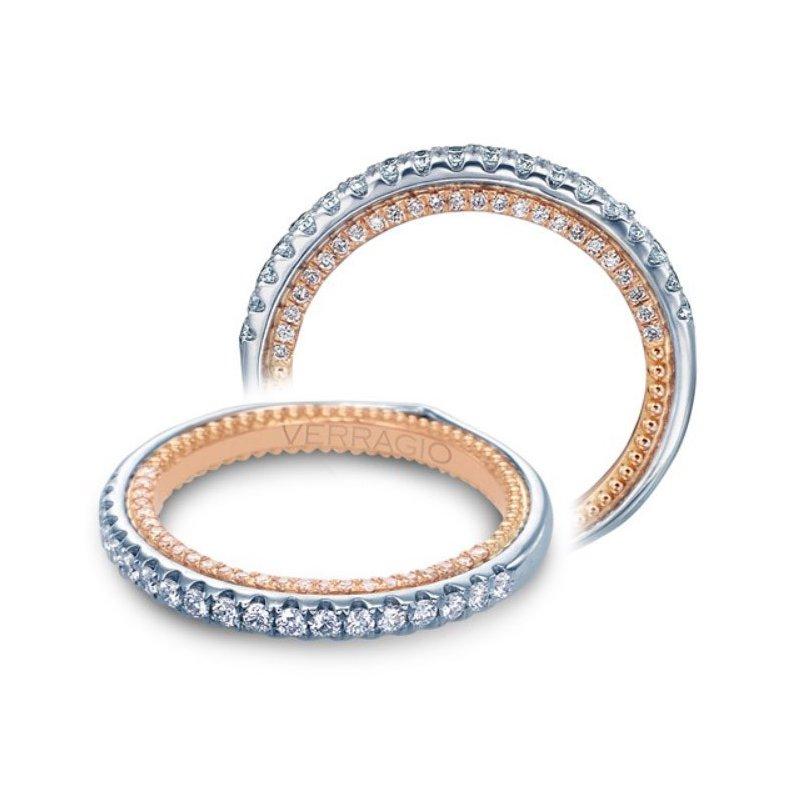 Verragio Verragio Couture 0459 DW-2WR - 18k White and Rose Gold Diamond Wedding Band
