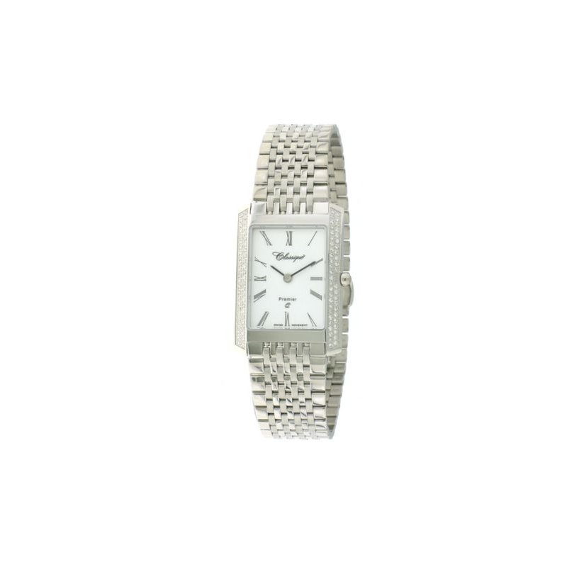 Swiss Watches Classsique' Ladies Stainless Steel Diamond Set Watch - #28-126WD