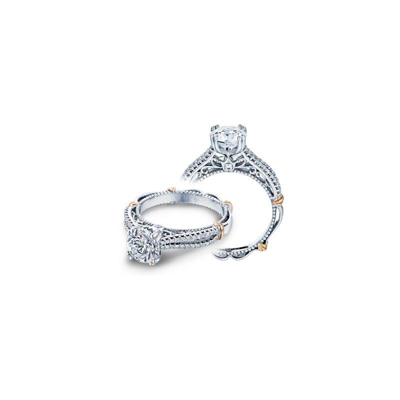Verragio Verragio Parisian-108 - 14k White and Rose Gold Split Shank Diamond Engagement Ring by Verragio