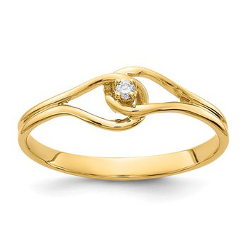 From the Promise Ring Collection 14k Yellow Gold Solitaire Diamond Ring