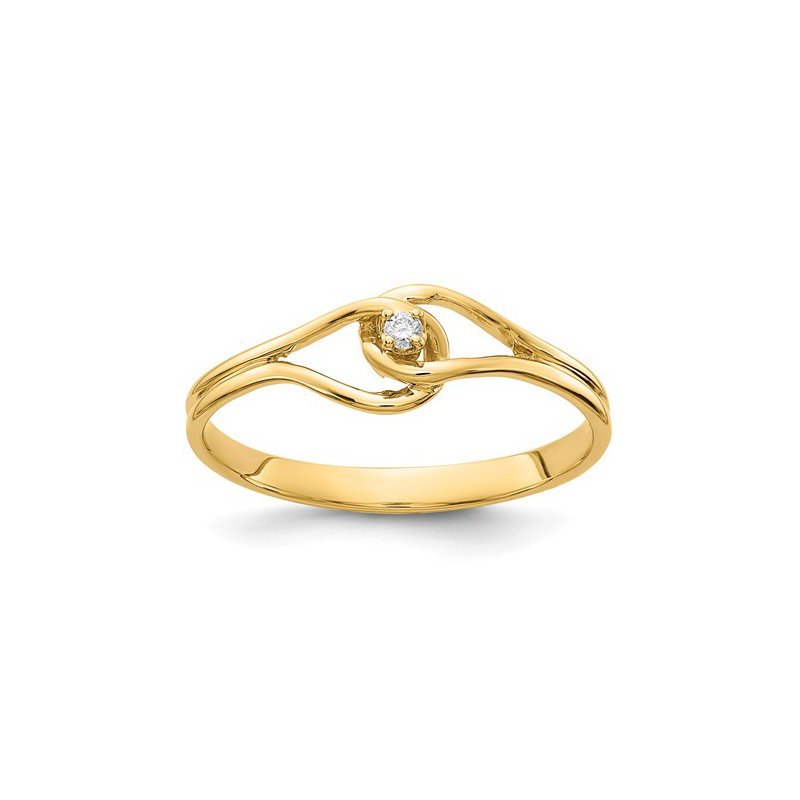 Signature Collection From the Promise Ring Collection 14k Yellow Gold Solitaire Diamond Ring
