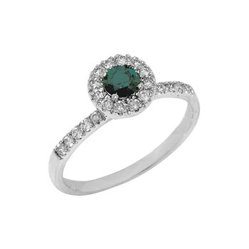 .57ct Round Brilliant Blue Diamond Halo Style Ring - 36531