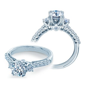 Verragio Renaissance Collection 3-Stone Diamond Engagement Ring - Style #V-940-R6.5