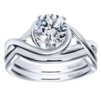 Gabriel NY 14k White Gold Criss Cross Engagement Ring Mounting by Gabriel NY