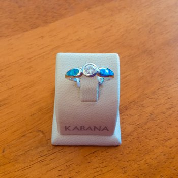 Kabana Australian Opal and Round Brilliant Diamond Ring - #34304