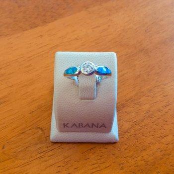 Kabana Australian Opal and Round Brilliant Diamond Ring - #34304