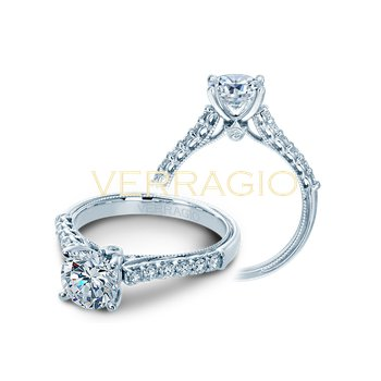 Verragio Classic V901-R7 - 14k White Gold Diamond Engagement Ring by Verragio