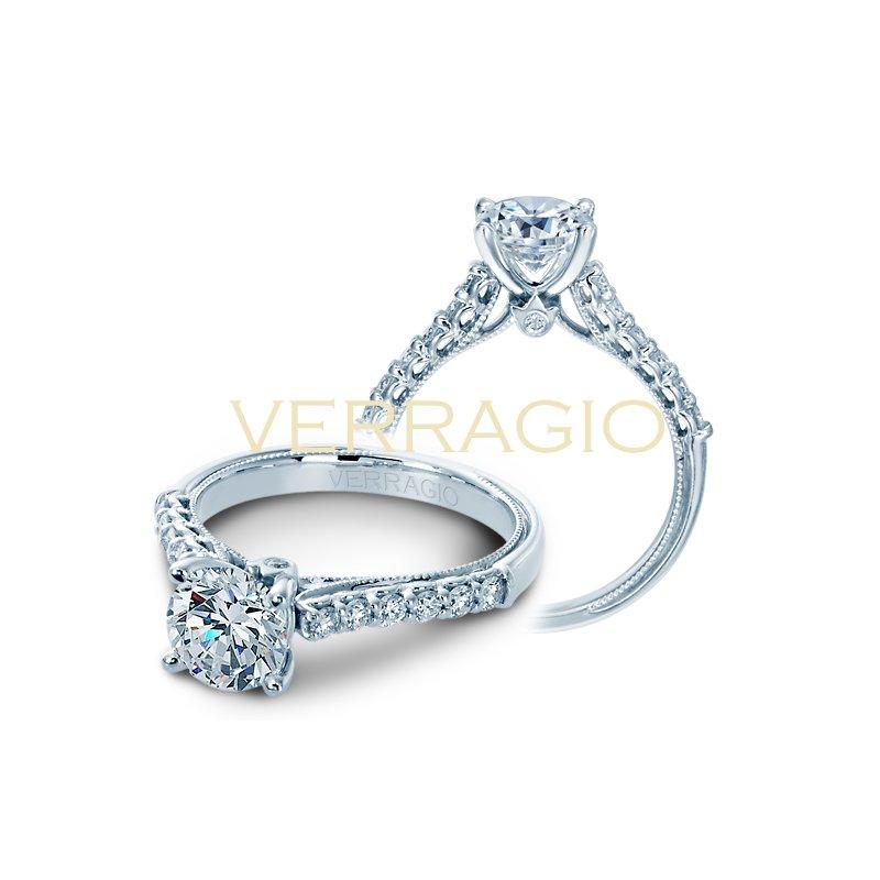 Verragio Verragio Classic V901-R7 - 14k White Gold Diamond Engagement Ring by Verragio