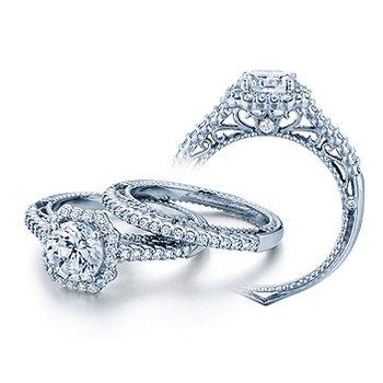 Verragio Venetian 5024 - 18k White Gold Diamond Engagement Ring by Verragio