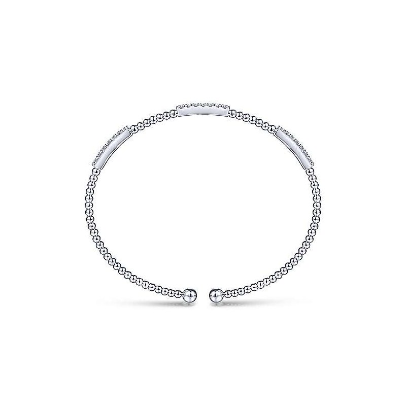 Signature Collection 14k White Gold Bujukan Bangle Bracelet by Gabriel NY