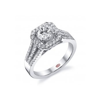 Demarco DW5627 - 18k White Gold Engagement Ring by Demarco