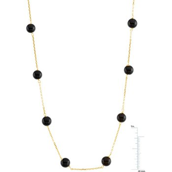 Genuine Black Onyx Station Necklace