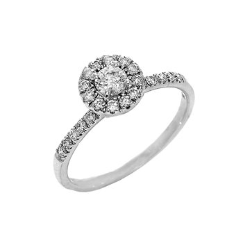.53ct Halo Design Round Diamond Engagement Ring - 36528