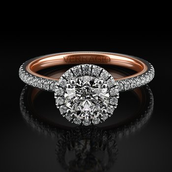 Verragio Tradition Collection TR120HR-2WR Round Halo Engagement Ring