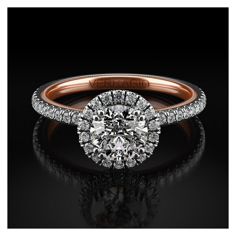 Verragio Verragio Tradition Collection TR120HR-2WR Round Halo Engagement Ring