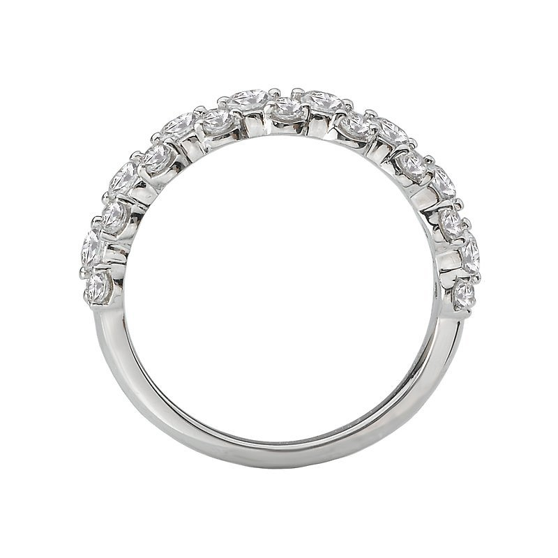 Signature Collection 14k White Gold Cluster Diamond Wedding Band