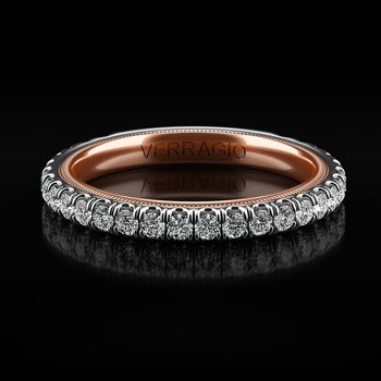 Tradition Collection Wedding Band - Style #TR180-2WR in 14k White and Rose Gold